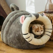 Cat Cave Bed Pet Animal Shape Universal Small Dog Winter Warm Puppy Bed ... - £61.76 GBP+