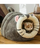 Cat Cave Bed Pet Animal Shape Universal Small Dog Winter Warm Puppy Bed ... - $82.08+