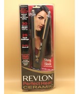 "Revlon Perfect Heat 2 1/4"" Ceramic Straightener New In Box - Auto shut Off - $16.34"