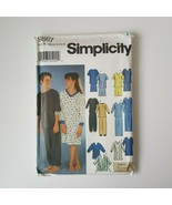 Simplicity 9867 Sewing Pattern Boys Girls Pjs Nightgown Robe Size 7-16 - $7.91