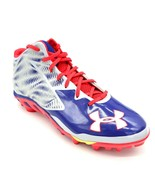 Under Armour Mens Nitro Cleats Sz 14 Blue And Grey New - $49.49