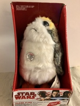 Star Wars Funko Porg Talking Plush with Original Movie Wounds Episode  - $28.95