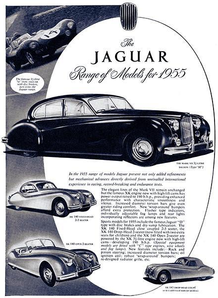 Primary image for 1955 Jaguar Line - Promotional Advertising Poster