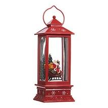 Lighted Snow Globe Lantern: 11 Inch, Red Holiday Water Lantern by RAZ Im... - $43.75