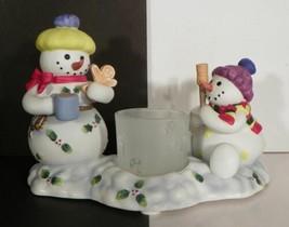 Partylite Snowbell Kids Votive Candle Holder P7869 Euc In Box - $14.80