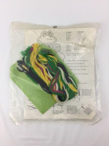Mazaltov's Crewel Kit Forlorn Frog Vintage 1976 70's Style
