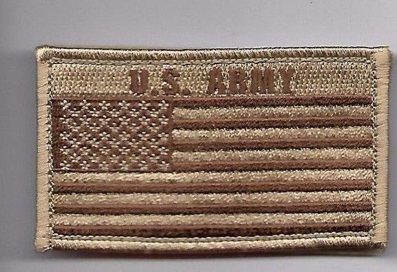 Primary image for ARMY DESERT FLAG 2 X 3  EMBROIDERED PATCH WITH HOOK LOOP