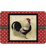 Bungalow Flooring Polk-A-Dot Black Speckled Rooster 22 in. x 31 in. Poly... - $45.07