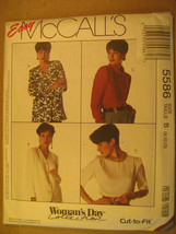 UNCUT Pattern 1991 EASY McCall SIZE 8 10 12 14 16 18 20 22 24 BLOUSE 558... - $4.80