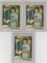 1983 Fleer #206 Steve Garvey Dodgers Lot of 3 - $2.95