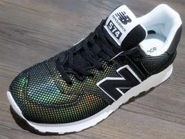 New Balance 574 Luminescent Mermaid Black/White WL574UBA Womens Sneakers  - $108.00
