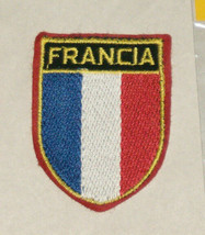 Francia France Flag Colors Embroidered Sewn World Travel Patch Free Ship... - $9.39