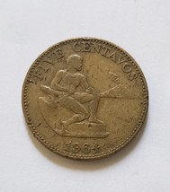 "Filipinas/United States of America  Five Centavo 1964 7/8"" Coin - $4.95"