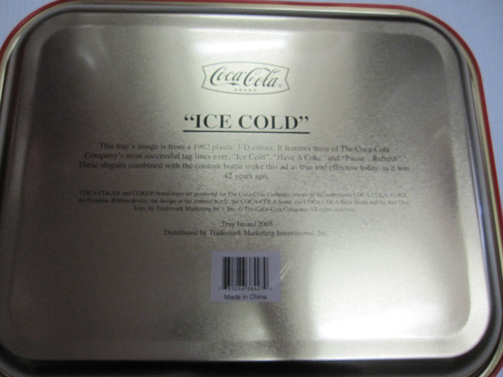Coca Cola Metal Pause-Refresh Tray - New -