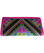 Zonnie Pari Indian Embroidered Zippered Small Purse Pink - $21.20