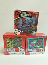 Transformers 70 Piece Puzzle 1 Milton Bradley open 2 Hasbro Sealed Lot of (3) - $16.50