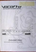 VocoPro DVX-880 PRO Multi-format Karaoke DVD DivX Player Original Owner'... - $19.79