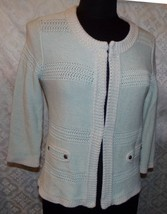 CAbi Cardigan Sweater Womens S Style #203 Society Mint Green - $45.42