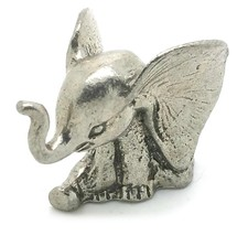 New Baby Sitting Elephant Giant Ears - Pewter Figurine Lead Free - $8.00