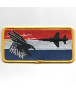 """4"""" USAF AIR FORCE 50 FTS HAWK NAMETAG W/T-38 TALON EMBROIDERED JACKET PATCH - $18.99"""