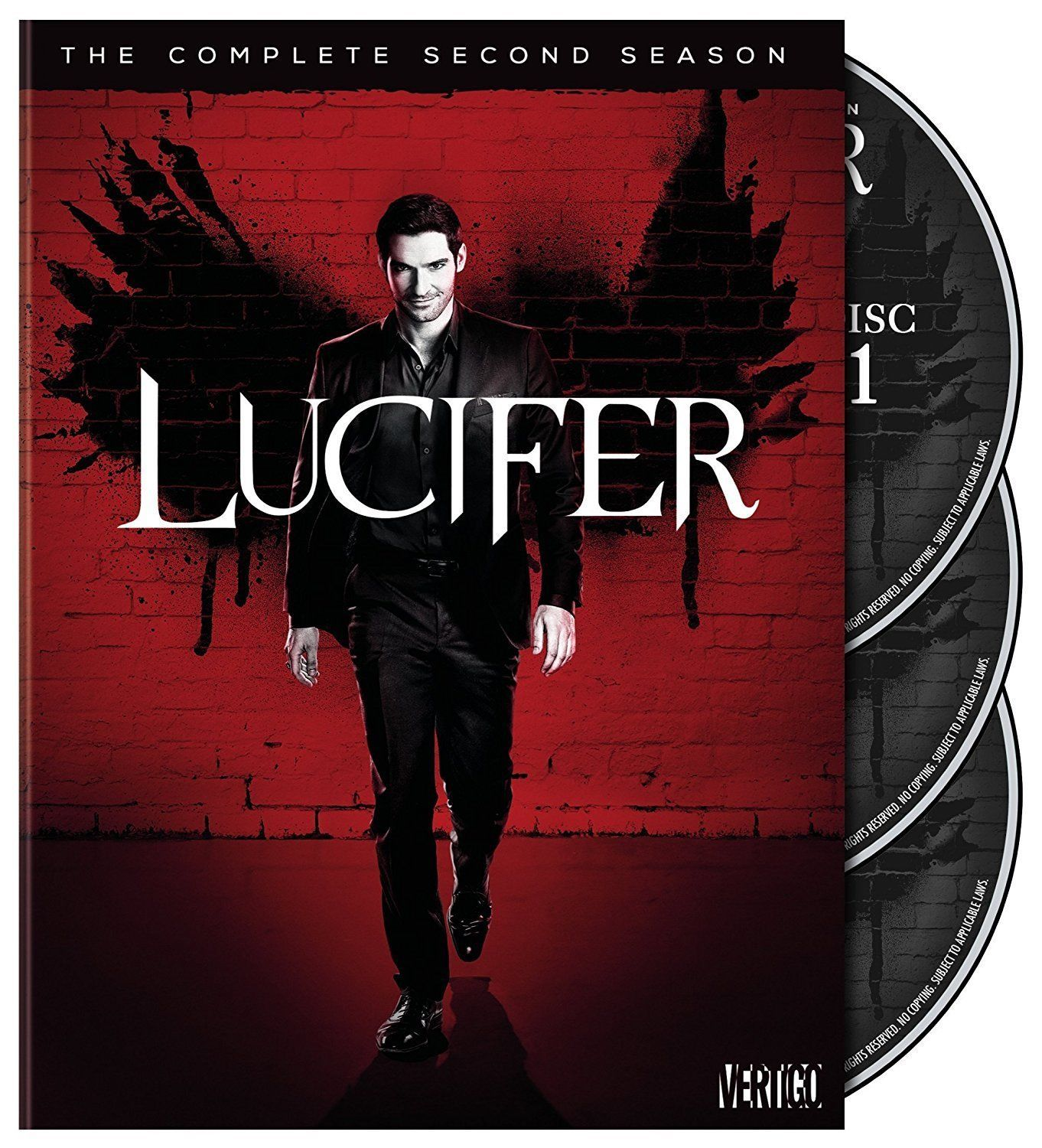 Lucifer: The Complete Second Season 2 (DVD, 2017, 3-Disc Set New) TV Series