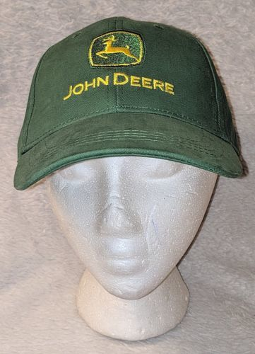 John Deere LP14418 Green Adjustable Baseball Cap With Leaping Deer Logo