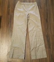 Women's Ann Taylor Dress Pants ~ Brown ~ Sz 6 ~ Cuff ~ Lined ~ 100% Wool - $14.84