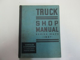1937 Chrysler Truck Series M & Fe Shop Manual Stained Damage Factory Feo Book 37 - $79.18