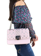 NWT Michael Kors Tina Stud Medium Shoulder Flap Bag Chain Crossody Bloss... - $129.99
