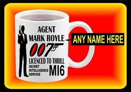 Personalised James Bond 007 New Ceramic White Printed Coffee Mug 11 Oz f... - $15.83