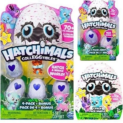 Hatchimals Colleggtibles Season 1 4-pack + bonus, 2-pack + nest, 1 blind SET (ra