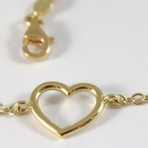 Yellow Gold Bracelet 750 18k with Heart Tube, ROLO, 18 cm length image 2