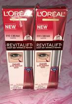 L'Oreal Revitalift Deep Set Wrinkle Repair 24HR AM/PM Eye Cream DUO 0.2 oz 6ml  - $29.69