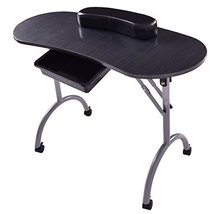Giantex Portable Manicure Nail Table Station Desk Spa Beauty Salon Equip... - $91.18