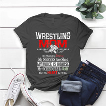 Wrestling Mom My Wallet Is Empty My Heart Is Full T- Shirt Birthday Funn... - $15.99+