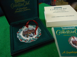 LONGABERGER Collectors Club Hometown 1996 Christmas Ornament..FREE POSTA... - $12.35