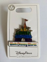 Pride Rainbow Sparkle Cinderella Castle Walt Disney World Disney Pin Tra... - $14.84