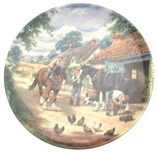 Bradford Exchange Royal Doulton at The Smithy by Stan Mitchell The Village Shire - $31.85