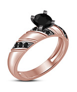 Christmas Shopping Offer 925 Silver Black Lab Diamond Women's Engagement... - $62.89
