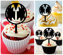 Mu7 Decorations cupcake toppers kiss band Silhouette Package : 10 pcs - $10.00
