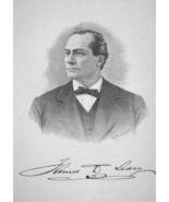 JAMES LEARY Canada Born Ship Builder & Contractor - 1895 Portrait Print - $12.60