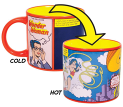WONDER WOMAN Mug Heat Activated Transforming Coffee Mug UFO Rescue Diana Prince  image 1
