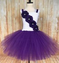 Purple and White Tutu, Purple Tutu Dress - $40.00+