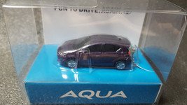 TOYOTA AQUA Light Keychain Purple Metallic Pull Back Mini Car Not sold in stores - $20.30
