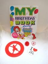 1978-80's Ronald McDonald Birthday Book Frisbee Ring & Top & Pinback Button T60 - $29.21