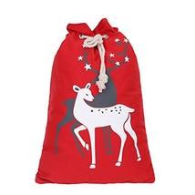 JUNYAO Christmas Bag Santa Sack Canvas Bag for Gifts Santa Sack with Dra... - $13.47
