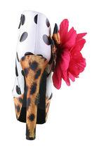 Iron Fist White Black Polkadot Leopard Lolita Love High Heels Platform Shoes NIB image 3
