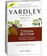 Yardley Moisturizing Bar Cocoa Butter 4.25 oz (Pack of 4) - $18.12