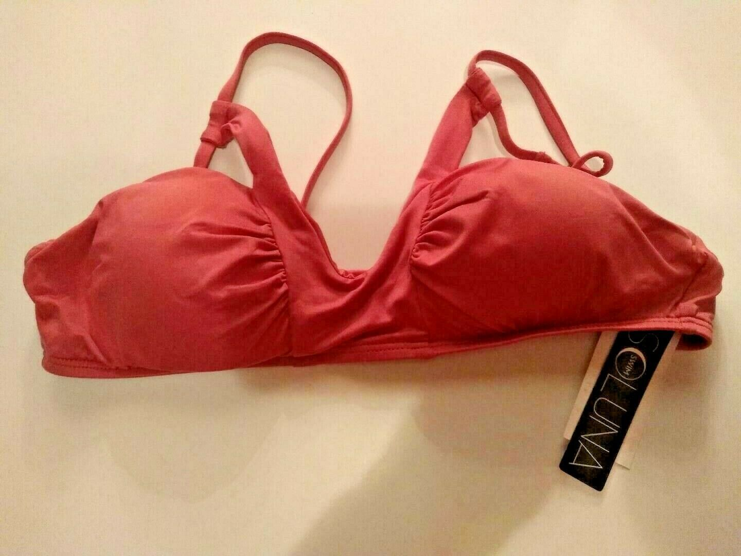 Soluna Swim Swimwear Top Size Medium Removable Cups