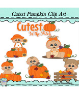 Cutest Pumpkin Clip Art - $1.25